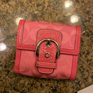 COACH Small Pink Wallet